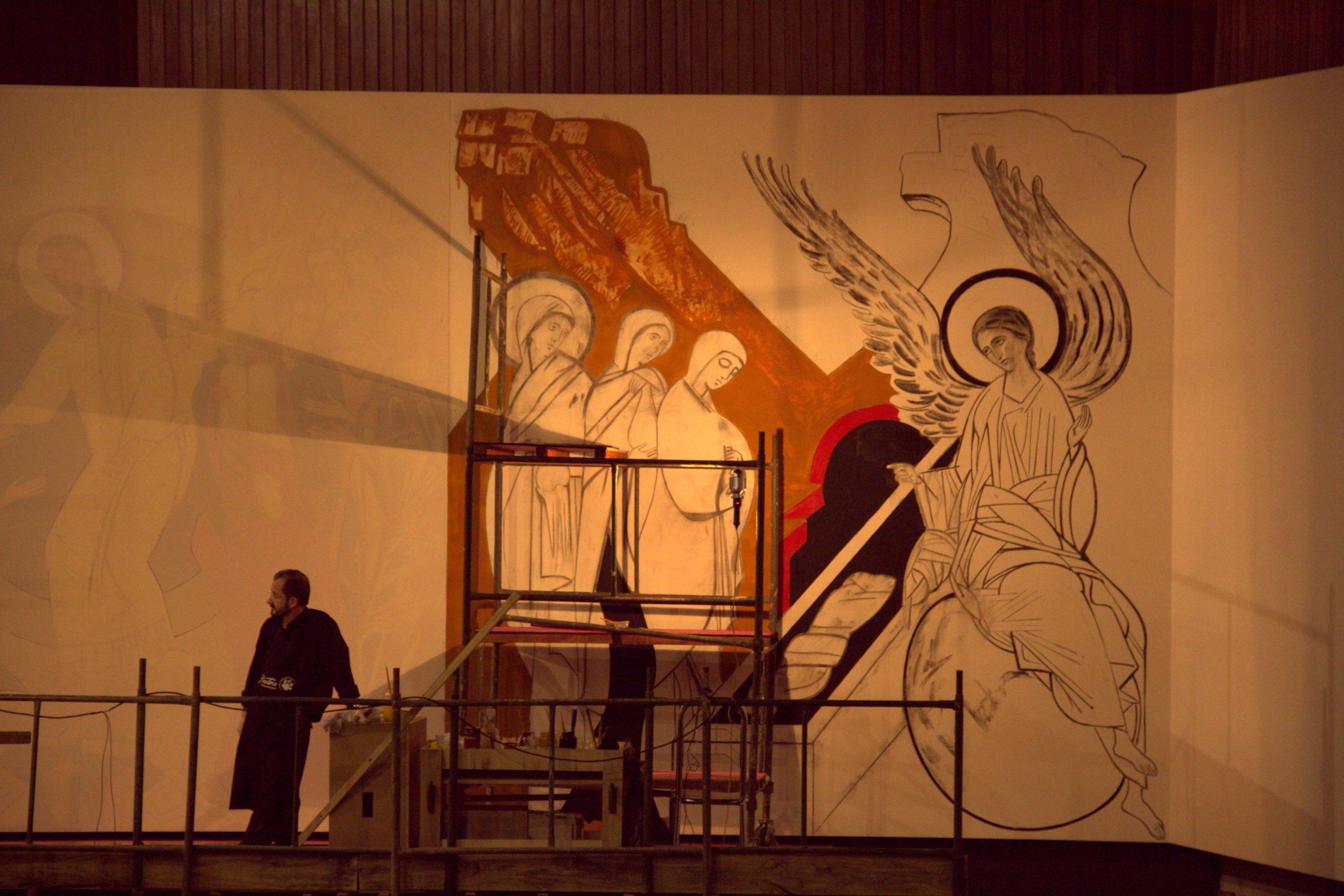 2012 - Pinturas da Coroa Mistérica - Paróquia Nossa Senhor da Esperança - Asa Norte, Brasília/DF