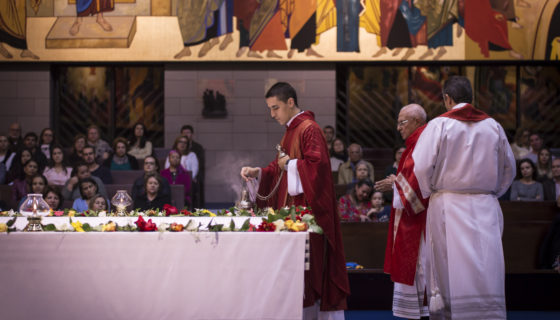 2017 - Padre Vinicius Podda assume como vigário paroquial. Paróquia Nossa Senhora da Esperança, Asa Norte, Brasília:DF.