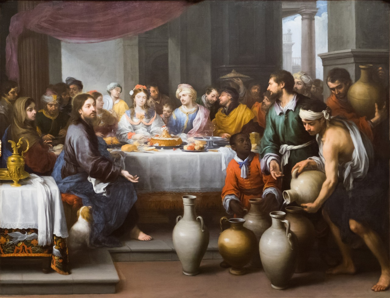 The Marriage Feast at Caná, de Bartolé Esteban Murillo, 1672